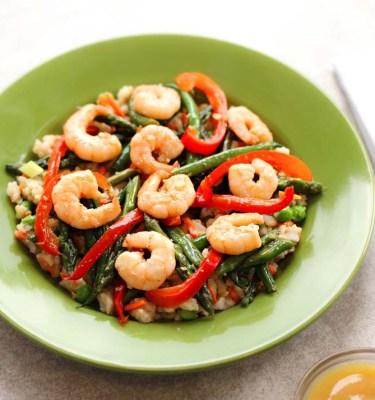 Sweet & Sour Shrimp, Brown Rice