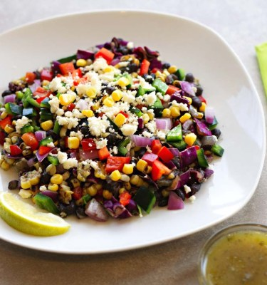 Southwestern Black Bean & Corn Salad with Cumin, Lime Dressing