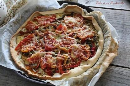 Tarte aux légumes grillés & chèvre (1)