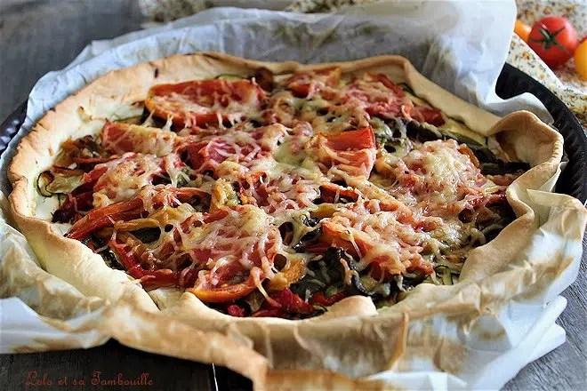 tarte aux légumes grillés et chèvre, recette de tarte aux légumes