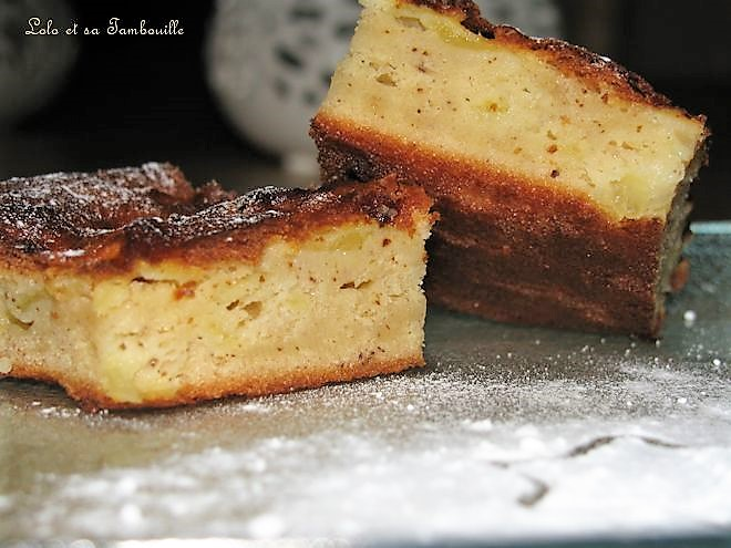 Gâteau-Clafoutis léger aux pommes et amandes
