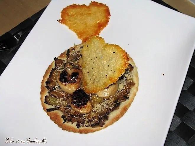 Tarte fine à la fondue de poireaux & St Jacques poêlées