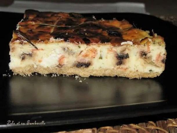 Cheesecake salé à la truite fumée