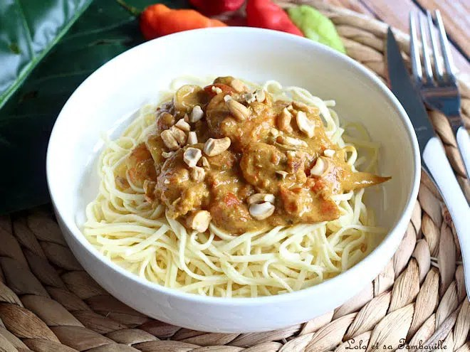 Curry de crevettes,curry de crevettes tomates,curry de crevettes lait de coco