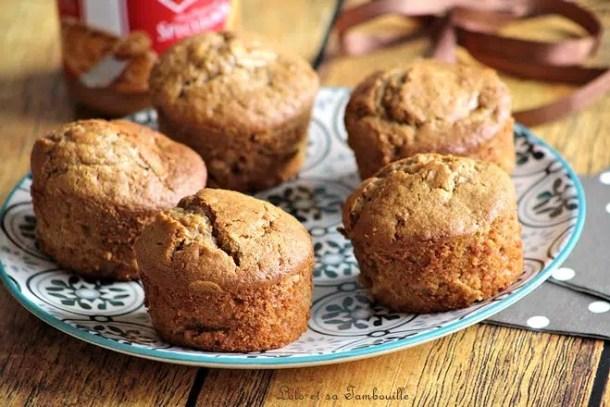Muffins aux pommes & pâte de spéculoos
