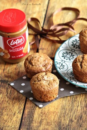 Muffins pâte de spéculoos & pommes (4)