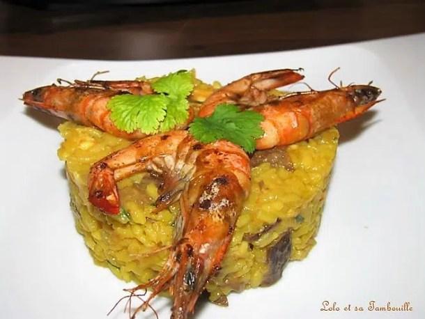 Risotto aux cèpes & aux crevettes