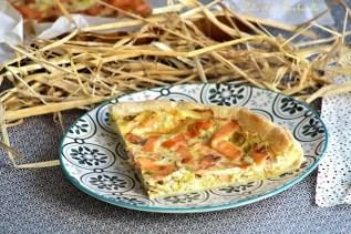 Tarte fondante au saumon & poireaux (3)