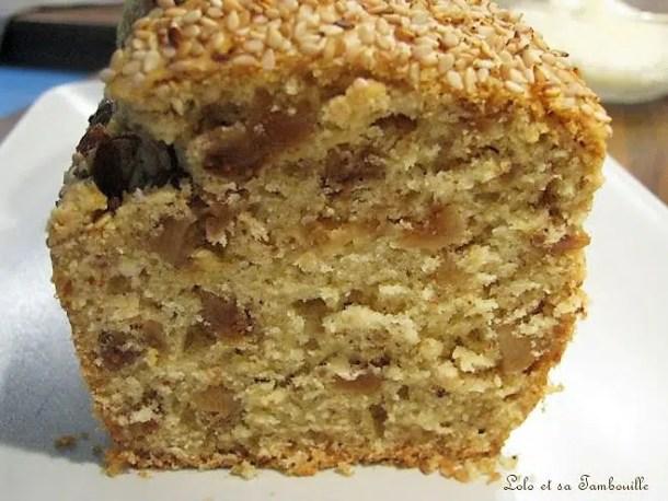 Cake aux figues et sésame à l'huile essentielle anisée