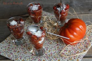 Verrines tomates, chorizo & parmesan (1)