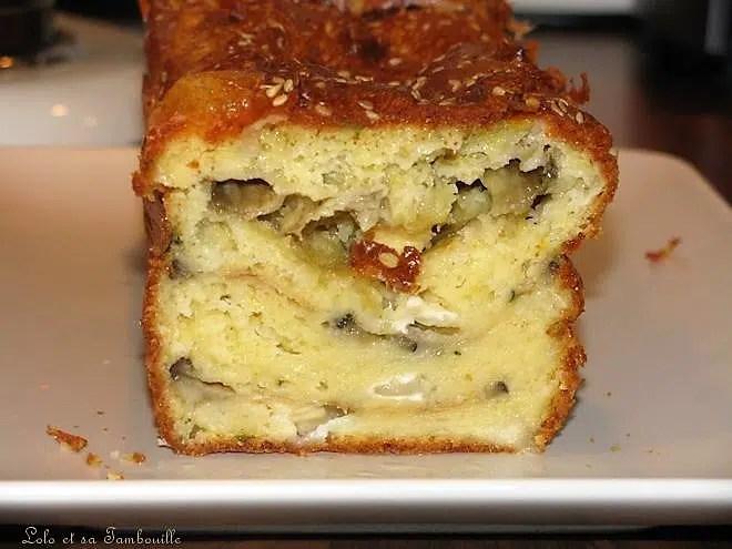 Cake aux aubergines grillées et fromage de chèvre