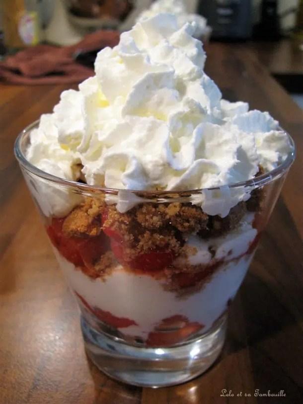 Coupes légères aux fraises