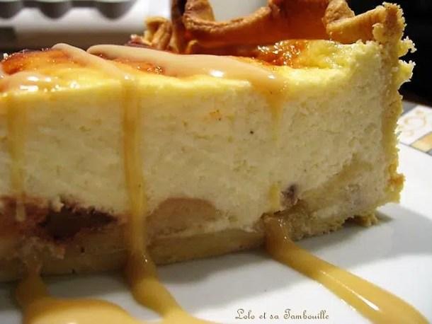 Tarte au fromage blanc poires & pépites de chocolat