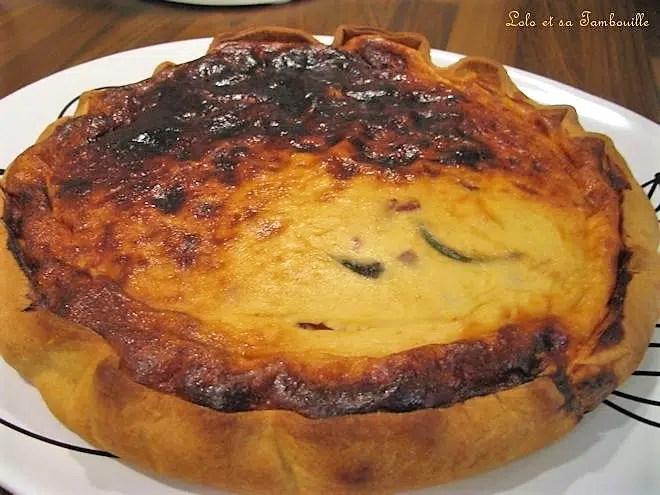 Tarte au fromage blanc aux poivrons & gelée de piment d'espelette