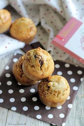 Muffins miel & noisettes, coeur chocolat (3)