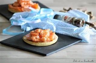 Blinis au saumon fumé & crevettes (3)