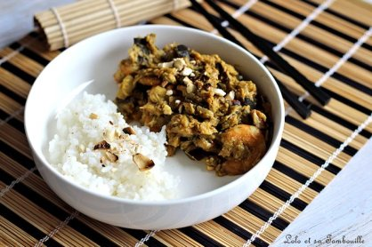 Curry d'aubergines & crevettes (2)