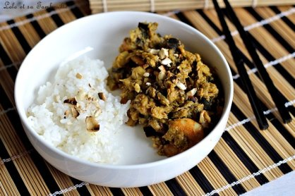 Curry d'aubergines & crevettes (3)