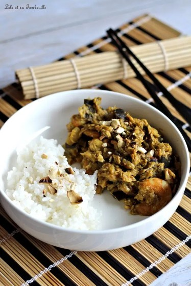 Curry d'aubergines & crevettes (5)