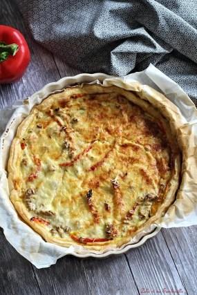 Tarte au thon & poivrons (2)