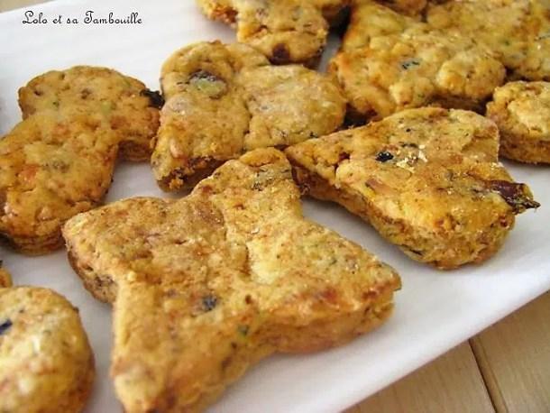 Biscuits aux tomates séchées & emmental