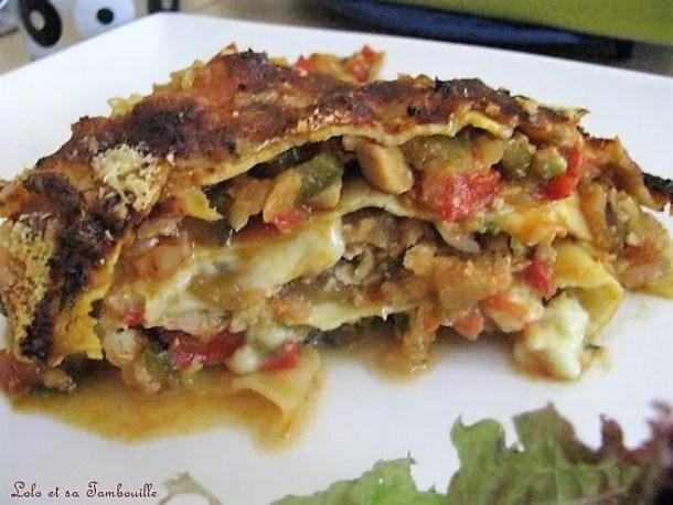 Lasagnes de légumes à la provençale & au saumon