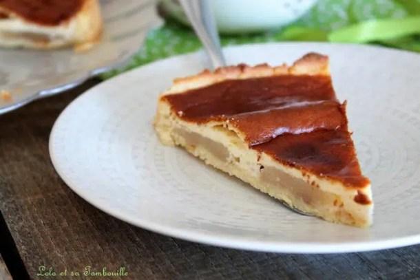 Tarte aux poires, pépites de chocolat & mascarpone