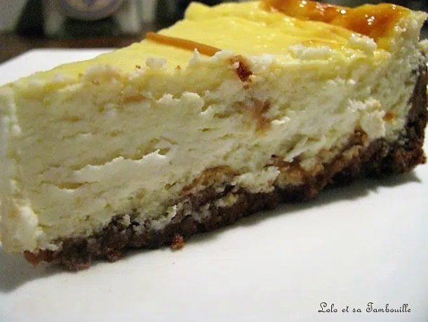Cheesecake aux cookies & butter fudge