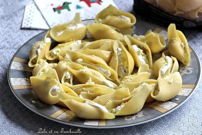 Conchiglionis au fromage frais, pignons & ciboulette
