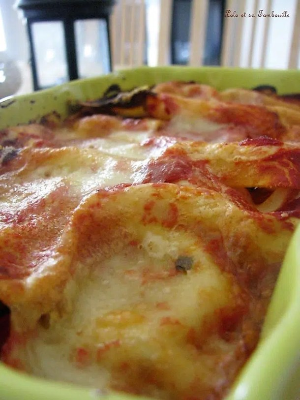 Lasagnes aux aubergines, tomates & chèvre