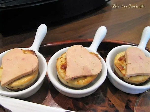 Mini cheesecakes au foie gras