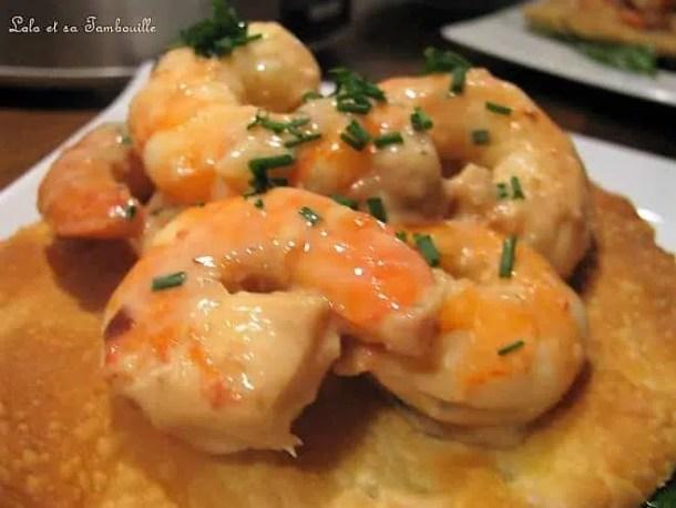 Tartelettes fines aux crevettes
