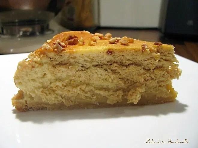 Cheesecake marbré à la crème au caramel & beurre salé