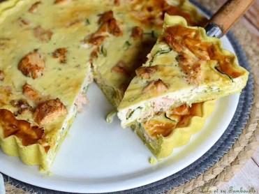 Tarte aux courgettes & saumon (4)