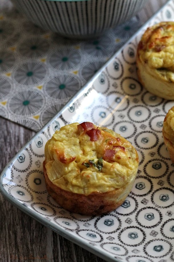 Quiches jambon & moutarde