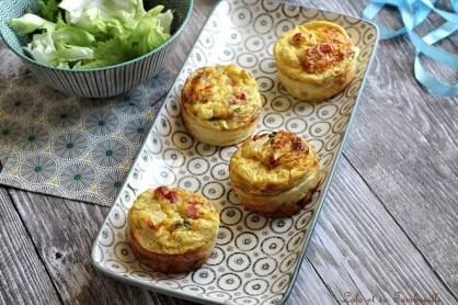 Flans aux d&s de jambon & moutarde (5)