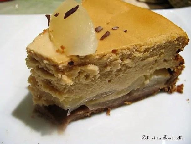 Cheesecake aux poires & pâte de spéculoos