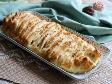 Feuilleté courgettes, mozza & jambon (2)