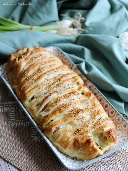 Feuilleté courgettes, mozza & jambon (3)