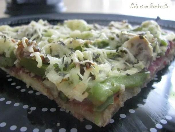 Pizza à la coppa, champignons & poivrons