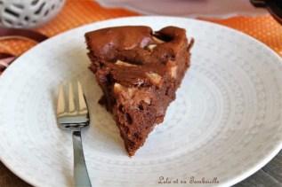 Fondant au chocolat & poires (3)