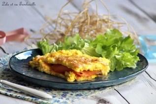 Tortilla de saumon fumé & mozzarella (4)