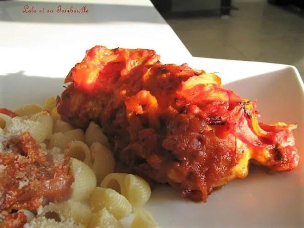 Poulet farci aux tomates séchées & mozzarella