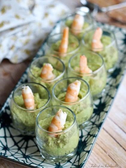 Verrines guacamole & crevettes (4)