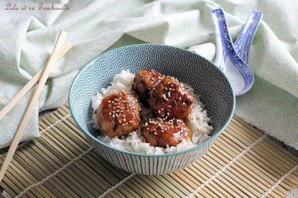 Boulettes de poulet à l'asiatique (2)