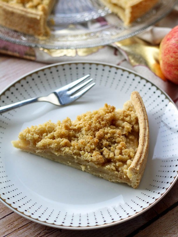 Tarte crumble aux pommes & cannelle