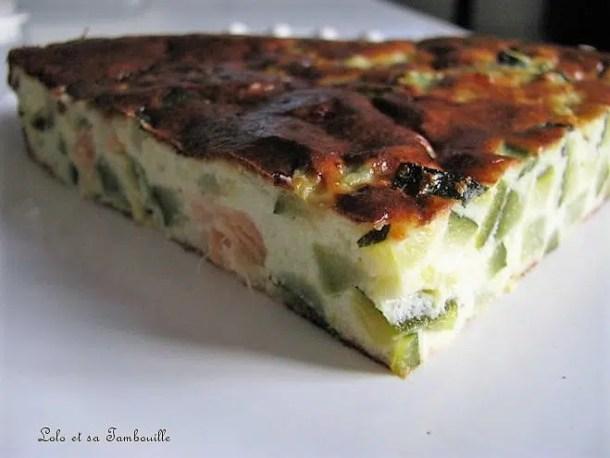 Clafoutis de courgettes au saumon fumé & parmesan