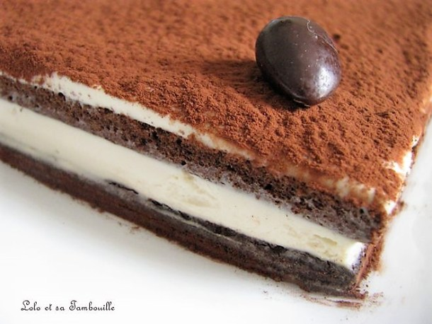 Gâteau au mascarpone & chocolat