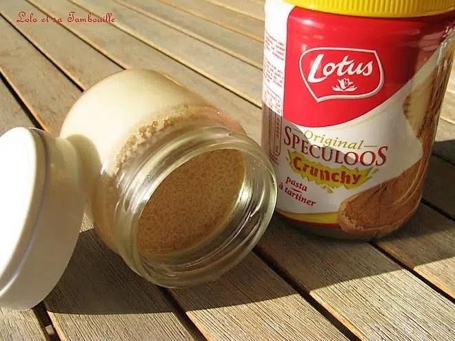 Yaourts à la pâte de spéculoos crunchy