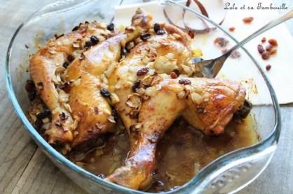 Cuisses de poulet au miel & raisins secs (3)